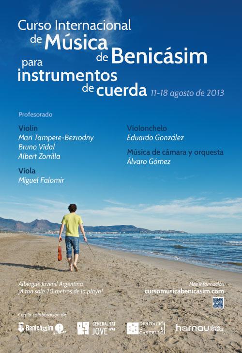 Cartel del curso de música de Benicásim